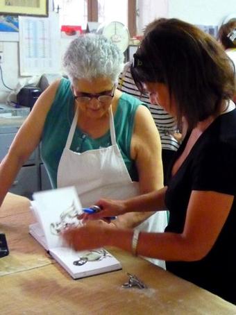 La fabrique de baklawas, Stage Carnet de voyage dessin et aquarelle en Crète